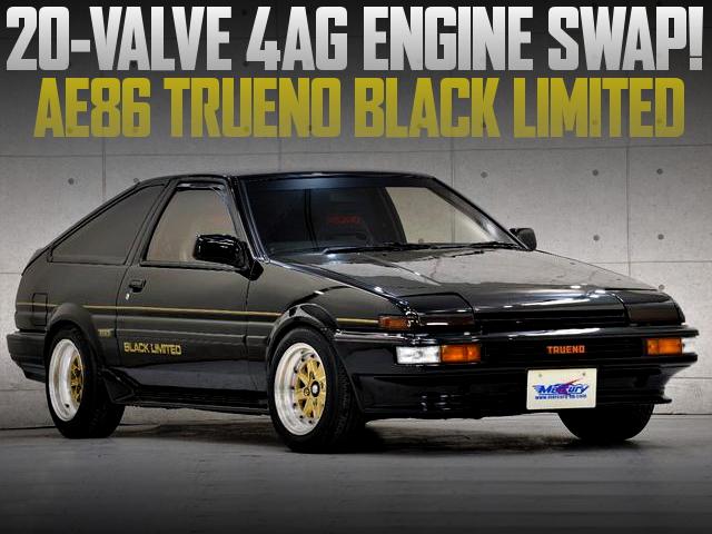 20-VALVE 4AG AE86 TRUENO BLACK LIMITED