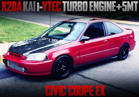 K20A i-VTEC TURBO ENGINE EJ8 CIVIC COUPE