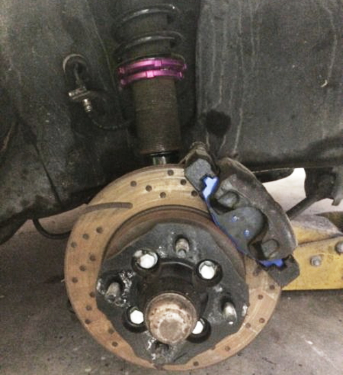 COILOVER AND BRAKE ROTOR
