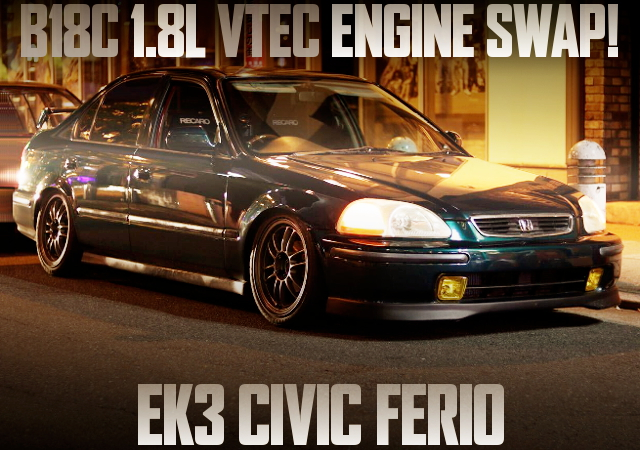 B18C VTEC ENGINE EK3 CIVIC FERIO