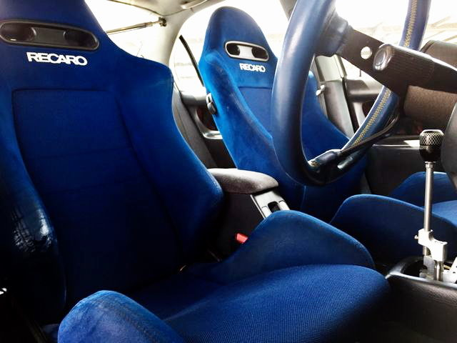 RECARO SEATS BLUE