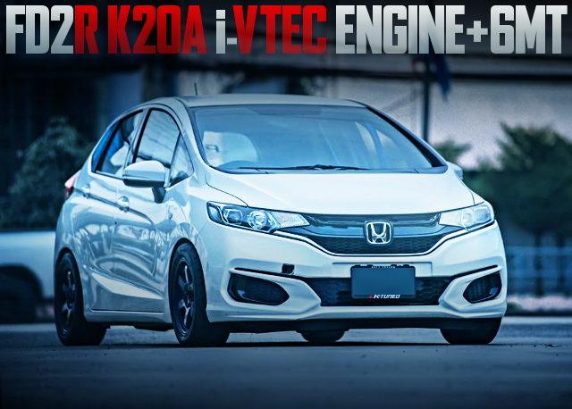 FD2R K20A i-VTEC ENGINE GK JAZZ WHITE