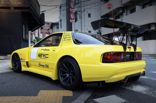 REAR EXTERIOR FC3S RX-7 YELLOW