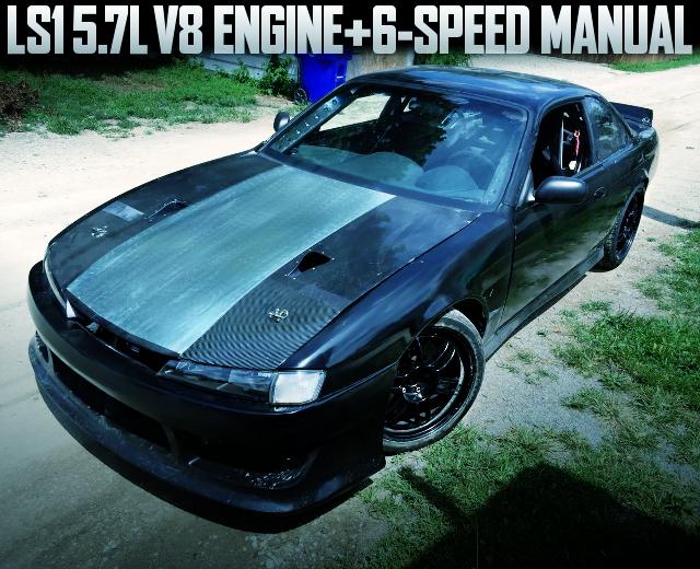 LS1 V8 ENGINE 6MT S14 240SX BLACK