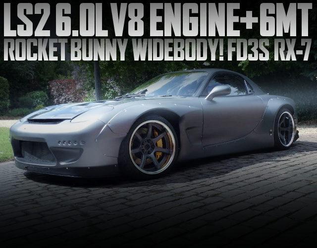 LS2 V8 ENGINE WITH 6MT FD3S RX7 METALLIC GRAY