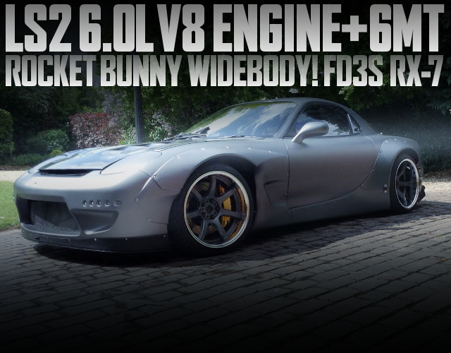 LS2 V8 ENGINE WITH 6MT FD3S RX7 METALLIC GRAY
