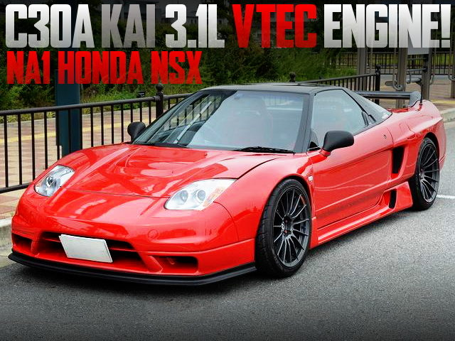 C30A 3100cc ENGINE 02 WIDE NA1 NSX RED