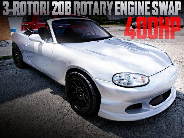 20B 3-ROTARY ENGINE NB MIATA SILVER