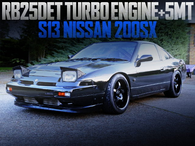 RB25 TURBO ENGINE S13 200SX BLACK