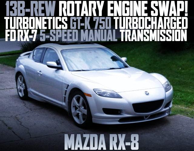 13B-REW SWAP MAZDA RX-8 SILVER