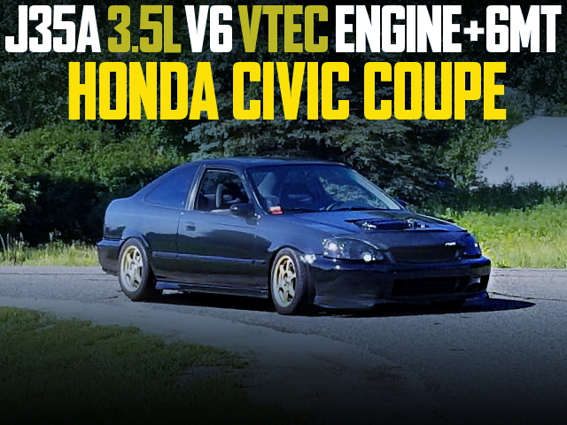 J35A V6 VTEC SWAP 2nd Gen CIVIC COUPE BLACK
