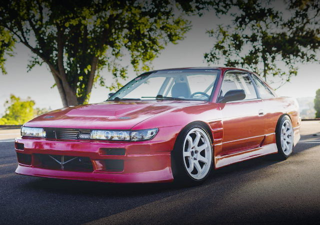 FRONT EXTERIOR S13 240SX RED