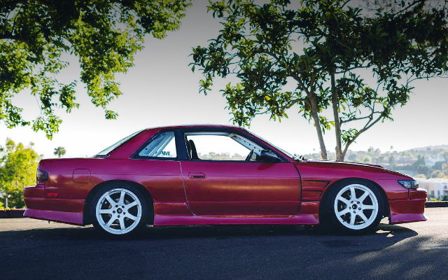 SIDE EXTERIOR S13 240SX RED