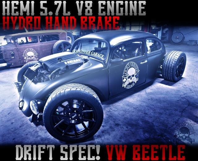 HEMI V8 ENGINE DRIFT VW TYPE1 BEETLE