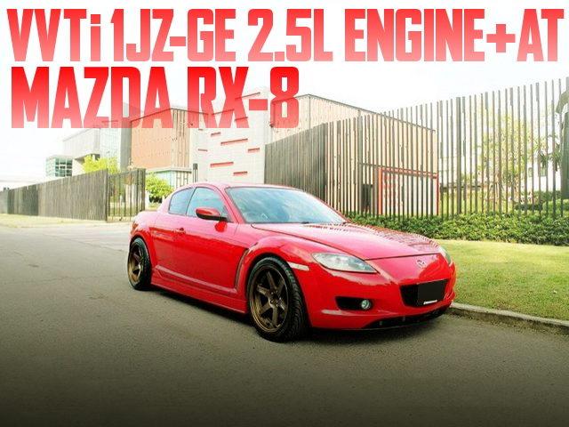 1JZ-GE 2500cc ENGINE SWAP MAZDA RX-8
