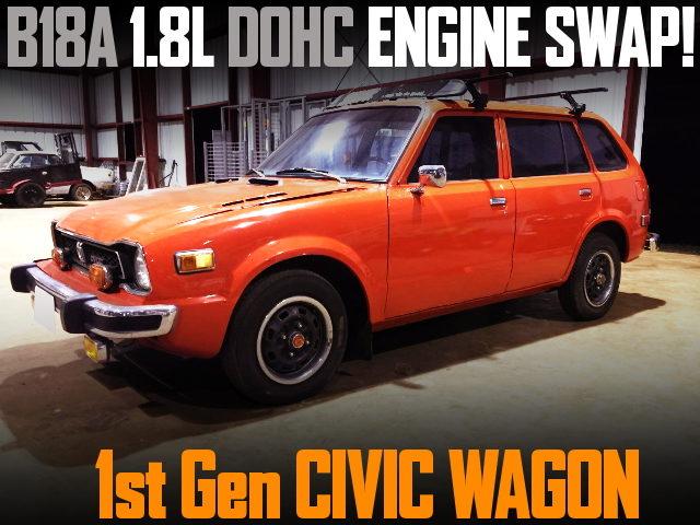 B18A DOHC ENGINE SWAP 1st Gen CIVIC WAGON