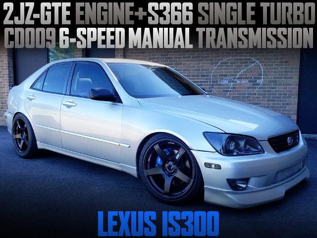 2JZ-GTE WITH S366 SINGLE TURBO 1ST GEN LEXUS IS300