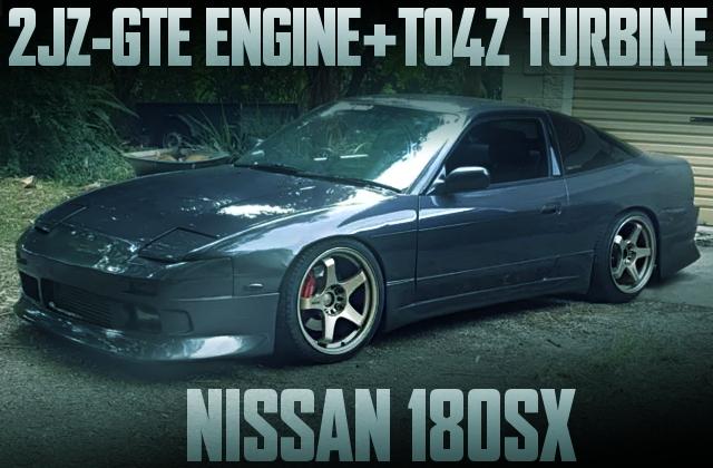 2JZ-GTE TO4Z TURBO 180SX GRAY