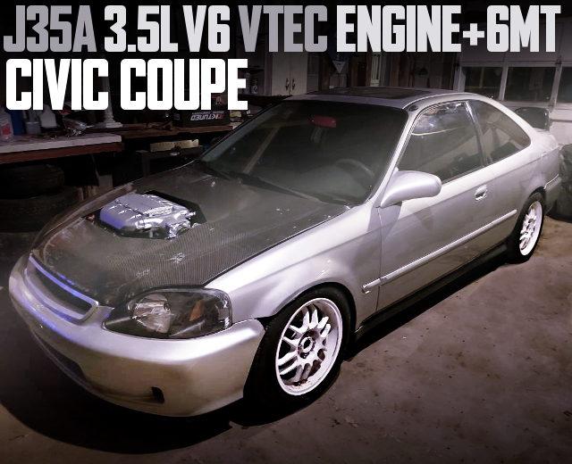 J35A V6 VTEC ENGINE 2nd Gen CIVIC COUPE SILVER