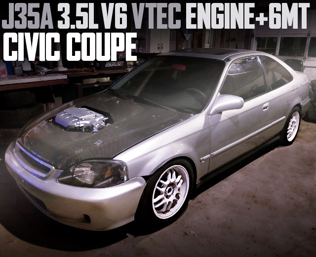 J35A V6 VTEC ENGINE 2nd Gen CIVIC COUPE SILVER