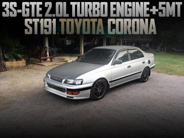 3S-GTE TURBO ENGINE WITH 5MT ST191 CORONA