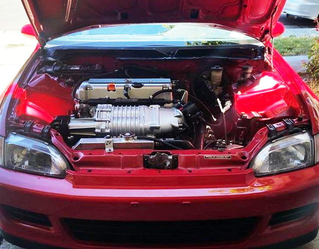 K24A ENGINE with SUPERCHARGER