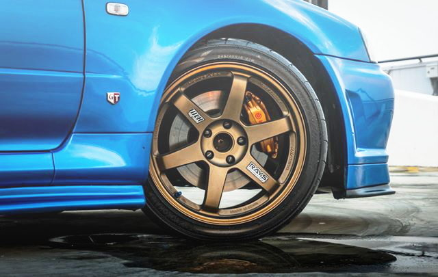 TE37 WHEEL AND Brembo BRAKE