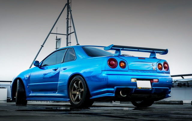 REAR EXTERIOR R34 GT-R REPLICA BLUE