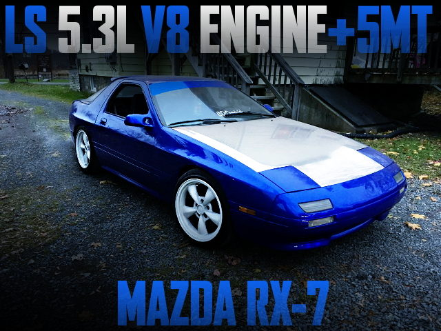 LS 5.3L V8 ENGINE WITH 5MT FC3S RX7 BLUE