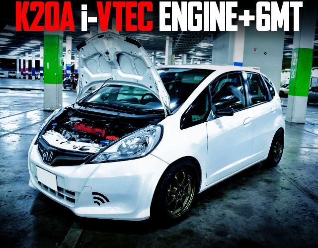 K20A iVTEC WITH 6MT GE HONDA JAZZ WHITE