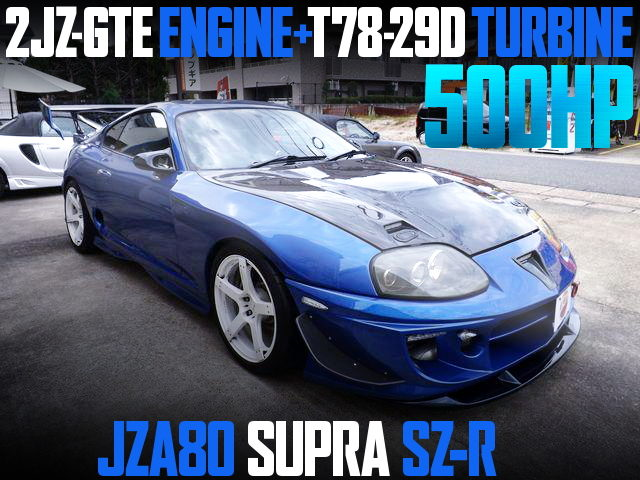 500HP T78 SINGLE TURBO JZA80 SUPRA BLUE