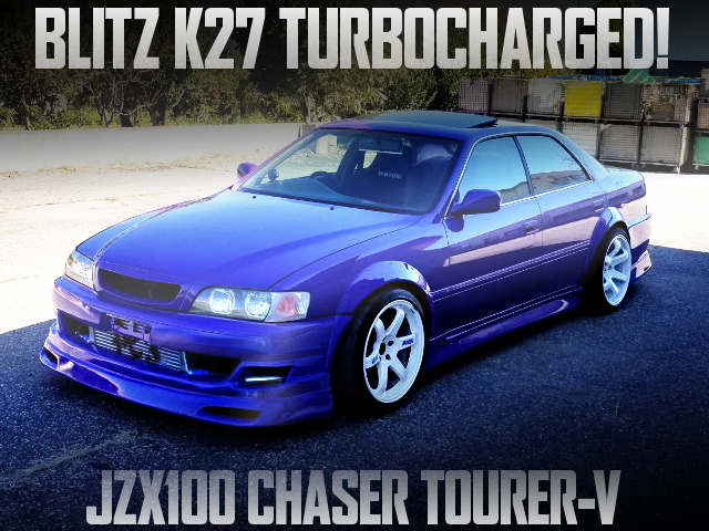 BLITZ K27 TURBO JZX100 CHASER PURPLE