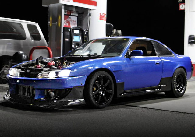 FRONT EXTERIOR S14 240SX BLUE