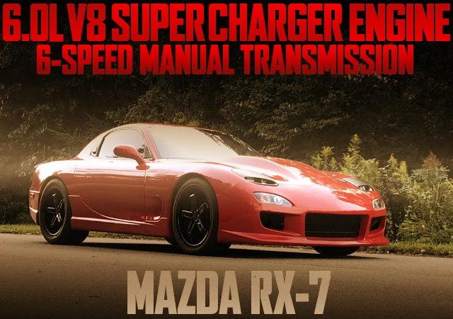 LS V8 SUPERCHARGER ENGINE FD3S RX-7 RED