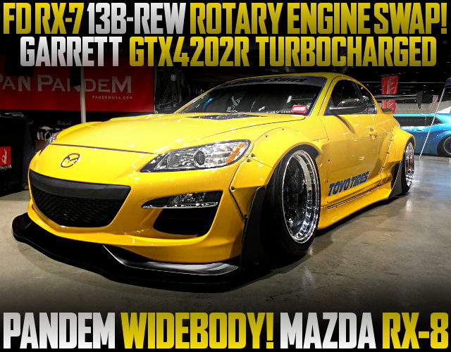 13BREW ROTARY ENGINE MAZDA RX8 YELLOW