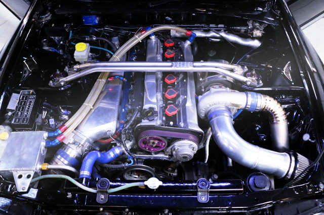 RB26 ENGINE WITH SINGLE TURBOCHARGED