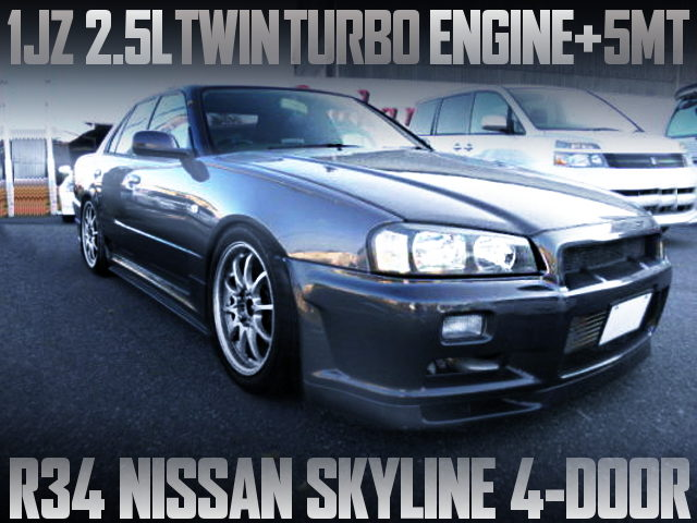1JZ TWINTURBO ENGINE R34 SKYLINE 4-DOOR