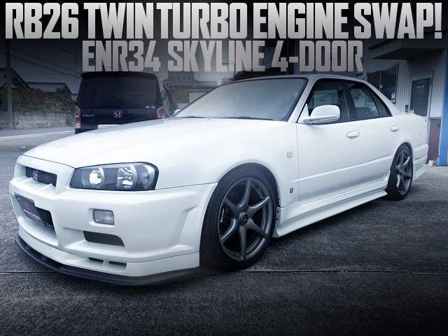 RB26 TWIN TURBO SWAP ENR34 SKYLINE 4-DOOR