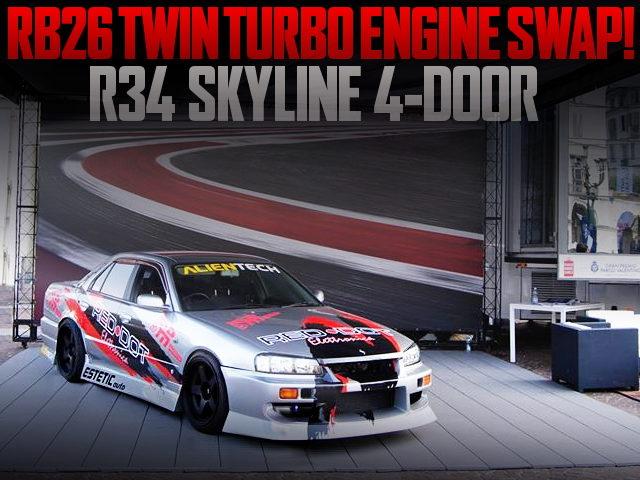 RB26 TWINTURBO ENGINE R34 SKYLINE 4-DOOR