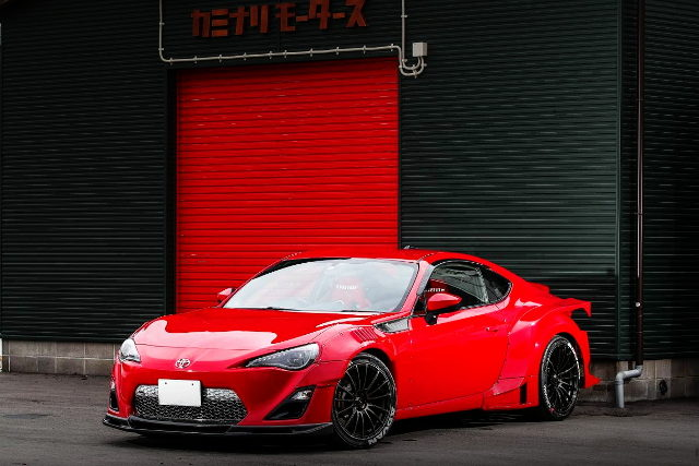 FRONT EXTERIOR TOYOTA 86 WIDEBODY RED