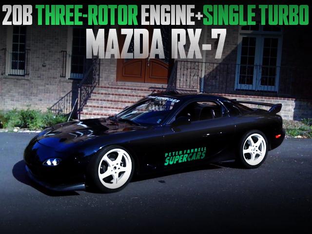 20B THREE-ROTOR ENGINE FD3S RX7 BLACK