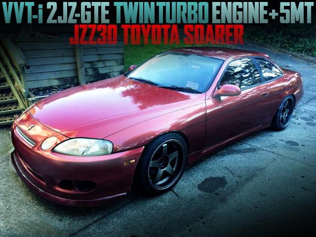 2JZ VVTi TWINTURBO ENGINE WITH 5MT JZZ30 SOARER