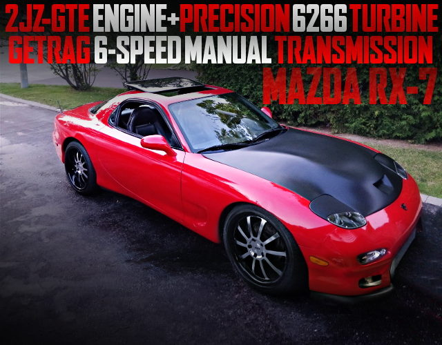 2JZ-GTE WITH 6266 SINGLE TURBO FD3S RX7