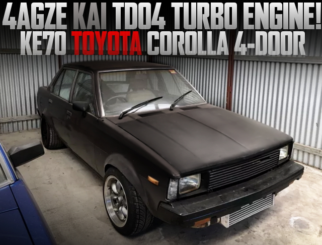 4AGZE TURBO ENGINE KE70 COROLLA 4DOOR SEDAN