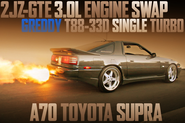 2JZ-GTE WITH T88-33D TURBO OF A70 SUPRA