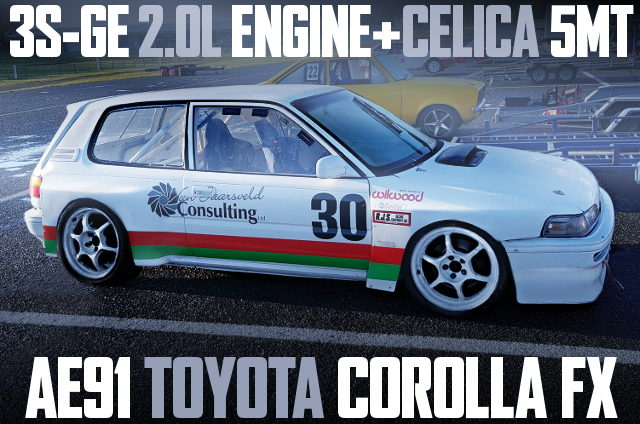 3SGE ENGINE WITH 5MT AE91 COROLLA FX