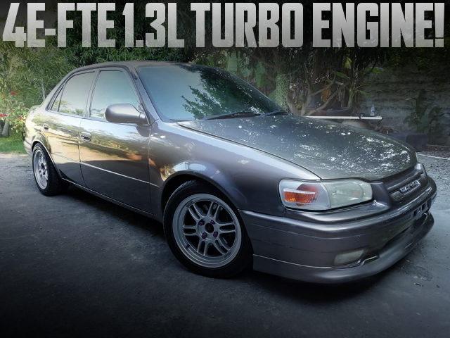 4EFTE TURBO ENGINE AE110 COROLLA SEDAN