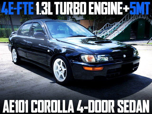 4E-FTE TURBO ENGINE AE101 COROLLA SEDAN