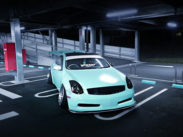 FRONT FACE CPV35 MINT GREEN V35 SKYLINE COUPE