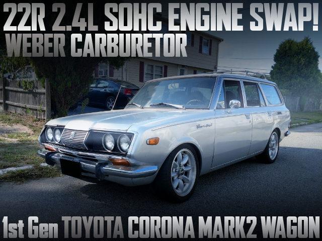 22R CARB ENGINE SWAP CORONA MARK2 WAGON